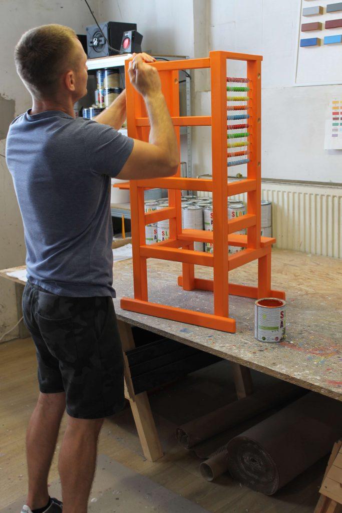 Orange Tukataka Learning tower